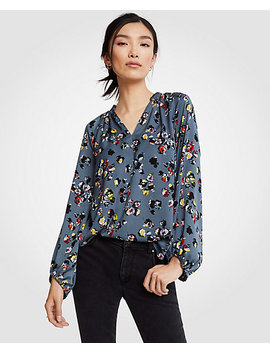 Winter Floral Full Sleeve Blouse by Ann Taylor