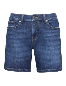 "Roll Up Medium Wash 6"" Denim Short by Banana Repbulic"