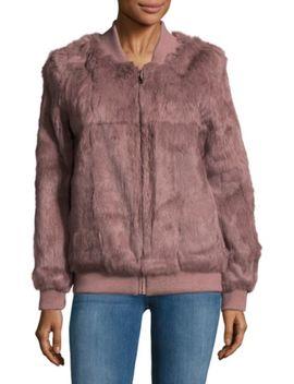 High Neck Fox & Rabbit Fur Jacket by Adrienne Landau