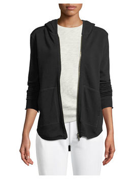 Zip Front French Terry Hoodie by Atm Anthony Thomas Melillo