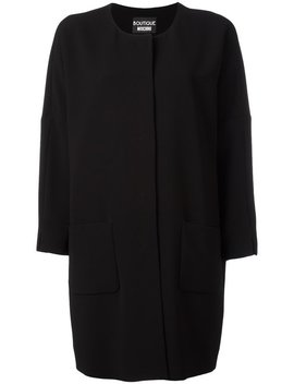 Three Quarters Sleeve Boxy Coat by Boutique Moschino