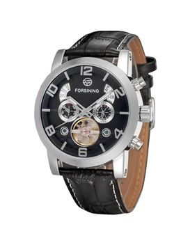 Forsining Men's Fsg165 M3 S4 Analog Automatic Tourbillon Black Watch by Forsining