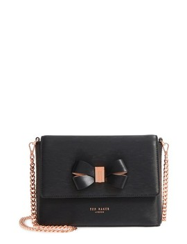 Bowii Bow Mini Bark Leather Crossbody Bag by Ted Baker London