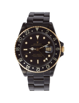 Matte Black & Gold Limited Edition Rolex Gmt Master I by Black Limited Edition