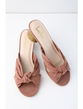 Luca Mauve Suede Mules by Lulus