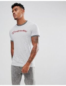 Good For Nothing Muscle T Shirt With Stripes And Logo by Good For Nothing