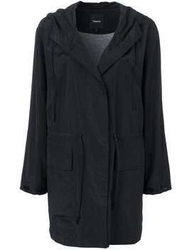 Hooded Drawstring Coat by Theory