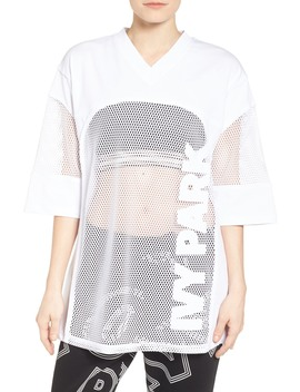 Ivy Park(R) Logo Mesh Oversize Tee by Ivy Park