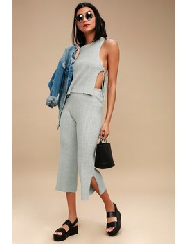 Written In The Sand Heather Grey Two Piece Culotte Jumpsuit by Lulus