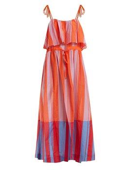 Striped Cotton And Silk Blend Maxi Dress by Diane Von Furstenberg