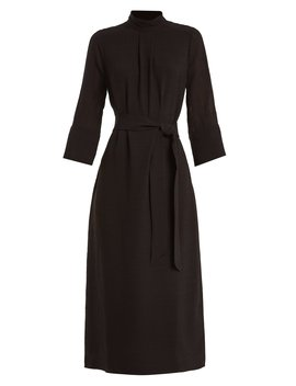 Tie Waist Muslin Midi Dress by Cefinn