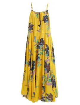 Floral Print Cotton And Silk Blend Dress by Diane Von Furstenberg