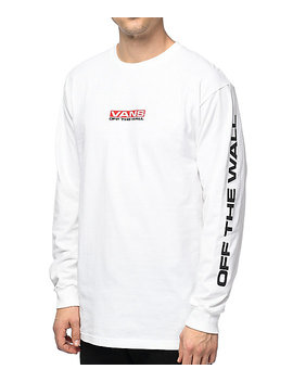 Vans Side Waze Long Sleeve White T Shirt by Vans