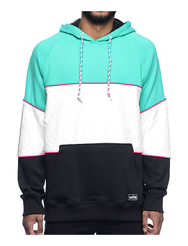 Empyre Bowline Teal, White &Amp; Black Block Hoodie by Empyre