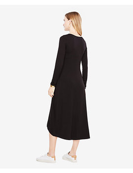 Elliptical Hem Midi Dress by Ann Taylor