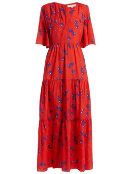 Teodora Floral Print Tired Dress by Borgo De Nor