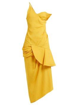 Asymmetric Neck Draped Dress by Jacquemus