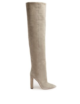 Tanger Over The Knee Suede Boots by Saint Laurent