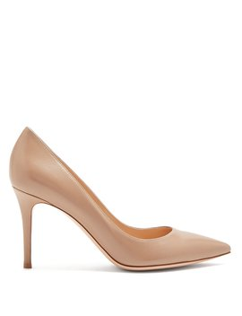 Gianvito Point Toe Leather Pumps by Gianvito Rossi