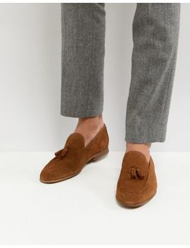 River Island Suede Loafers With Tassels In Tan by River Island