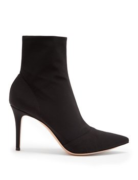 Osaka Point Toe Stretch Bootie by Gianvito Rossi