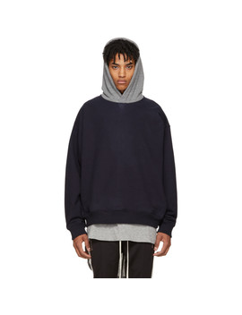 Navy & Grey Heavy Terry Everyday Hoodie by Fear Of God