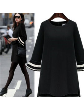 Fashion Women's A Line Round Neck Tunic Short Sleeve Loose Dress Blouse T Shirt by Unbranded