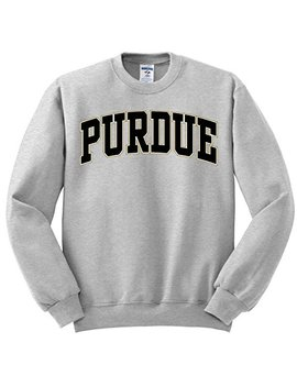 Purdue University Oxford Grey Sweatshirt With Purdue Arch by University Book Store