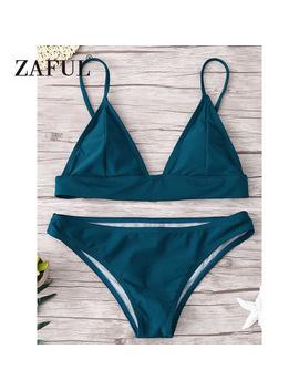 Zaful Padded Bikini Push Up Swimwear Women 2018 Retro Bikini Set Sexy Bathing Suit Beach Wear Maillot De Bain Femme Thong Bikini by Monka Outdoor Store