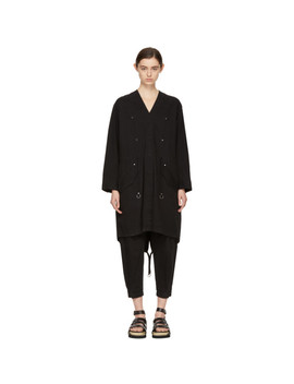 Black Twill Coat by T By Alexander Wang