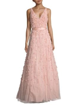 V Neck Sleeveless Dress by Mac Duggal