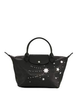Le Pliage Cuir Etoiles Small Top Handle Bag by Longchamp