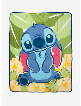 Disney Lilo & Stitch Tropical Throw Blanket by Hot Topic