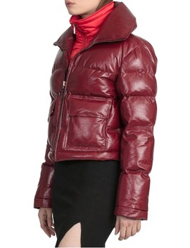 Bagatelle.City The Puffer Leather Jacket With Removable Bib Lining by Bagatelle City