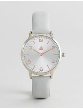 Asos Numbered Sunray Dial Leather Watch by Asos Collection