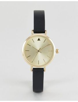 Asos Premium Engraved Case Leather Watch by Asos Collection
