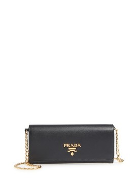 Saffiano Leather Luxe Wallet On A Chain by Prada