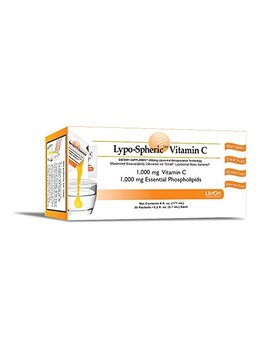 Lypo Spheric Vitamin C , 0.2 Fl Oz.   30 Packets | 1,000 Mg Vitamin C Per Packet | Liposome Encapsulated For Maximum Bioavailability | Professionally Formulated | 100 Percents Non Gmo, Ultra Potent... by Liv On Laboratories Lypo Spheric