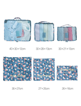 Household Portable Box Waterproof Clothes Organizer Storage Box Underwear Bra Packing Makeup Cosmetic Cloth Storage Bag 6pcs/Set by Eva Gift Life Better Store