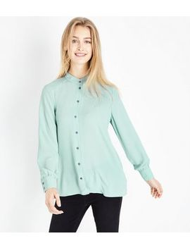 Jdy Mint Green Collarless Shirt by New Look