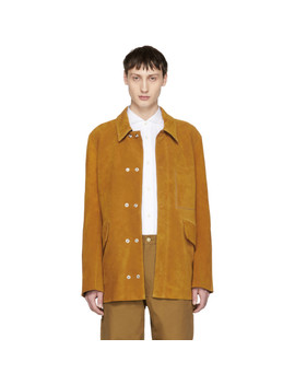 Brown Suede Lhamar Jacket by Acne Studios