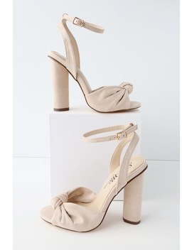 nessa-nude-suede-ankle-strap-heels by lulus