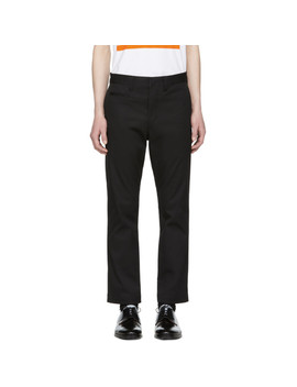 Black Stretch Twill Trousers by Junya Watanabe