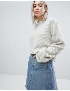 Weekday Thick Rib Cropped Sweater by Weekday