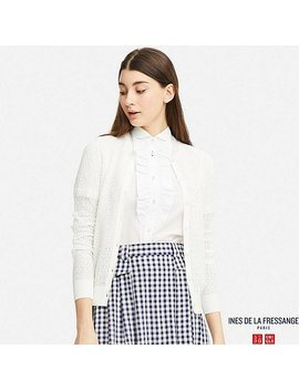 Women Idlf Pointelle Cardigan by Uniqlo