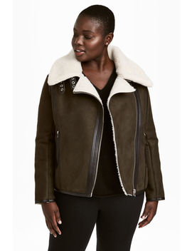 H&Amp;M+ Pile Lined Biker Jacket by H&M
