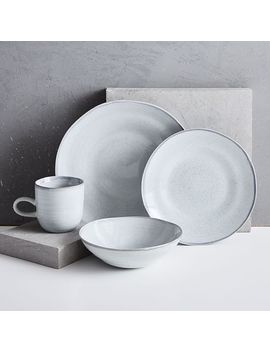 Reactive Gray Speckle Dinner Plates (Set Of 4) by West Elm
