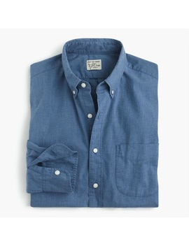 Slim Stretch Secret Wash Shirt In Blue Heather Poplin by J.Crew