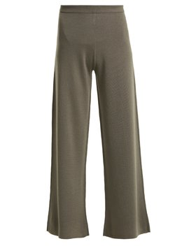 Wide Leg Wool Trousers by Allude