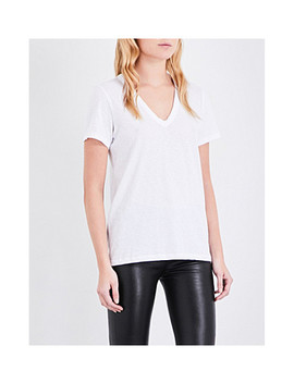 V Neck Cotton Jersey T Shirt by Rag & Bone